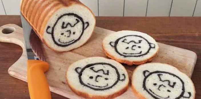 Хлеб с рисунком на срезе